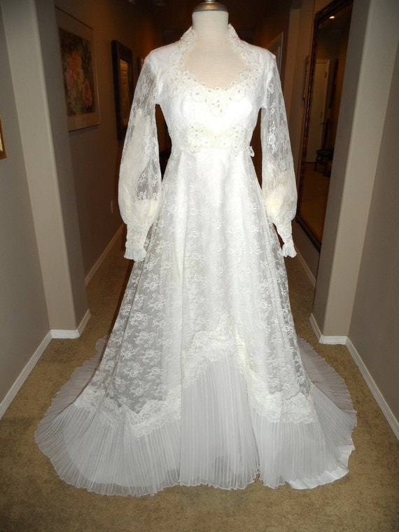 Vintage 1960 39 S Wedding Dress Spanish Lace By