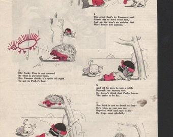 """Original Good Housekeeping cartoon """"Yoomee"""" by James Swinnerton 1930s, 8x11 in. - Kids219"""
