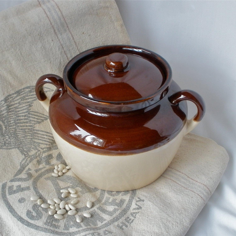 Mccoy Bean Pot 343 Vintage Pottery Stoneware Storage