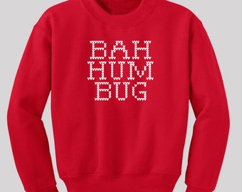 Bah Humbug Ugly Christmas Sweater -  Available in s, m, l, xl and 2xl