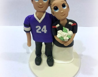 Custom Texas Jerseys Sports Wedding Cake Topper