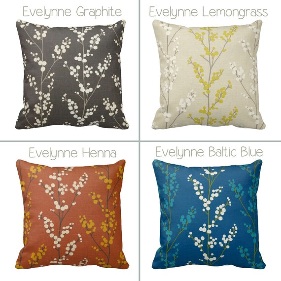 How To Make Zippered Throw Pillow Covers : Zippered Floral Throw Pillow Cover by Primal Vogue Various