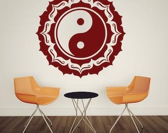 Chinese Yin Yang Feng Shui Wall Decal Art Decor Sticker chinese wall art chinese decor feng shui decor yin yang decor asian decor