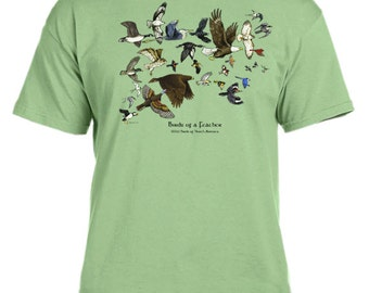 Birds of a Feather north american birds t-shirt
