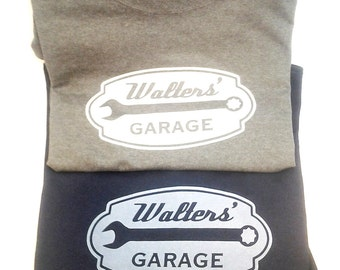 4 (or more!) screen printed, custom made (with your name), Garage T-Shirts.