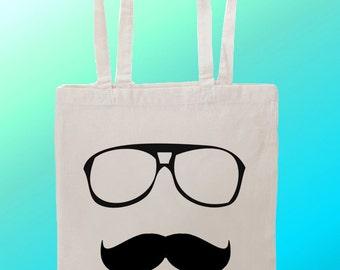 Moustache - Reuseable Shopping Cotton Canvas Tote Bag