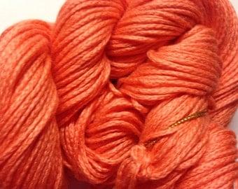 Noro Lilly Solid cotton/silk blend DK weight yarn (40 Salmon/orange)