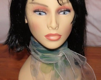 Variety of Vintage Nylon Chiffon Scarves, Choose Colour and Style