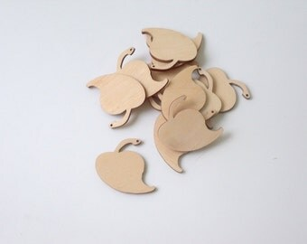 Leaf Wood Ornament. Laser Cut Unfinished Wood Leaf Pendant. Leaf Jewelry AUSK030