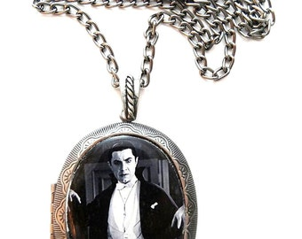 Dracula Locket & Gift Box, Bela Lugosi, Horror, Film, Necklace, Jewellery, Dracula, Dracula Jewellery, Silver, Necklace, Goth, Jewelry, Gift