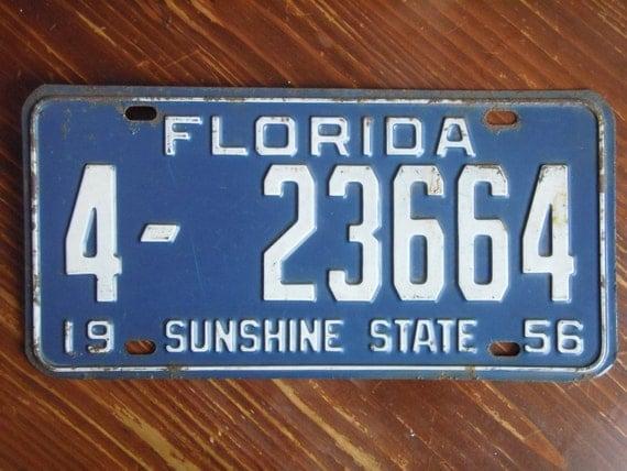 Florida License plate Change