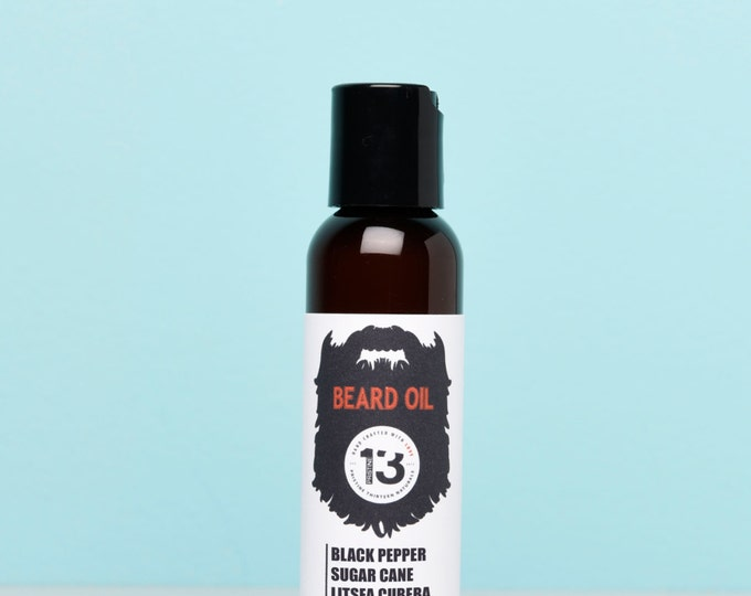 Black Pepper, Sugar Cane and Litsea Cubeba Beard Conditioning Oil