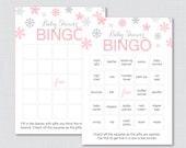 Winter Baby Shower Bingo ...