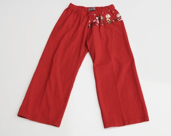 Boys Peanuts Valentines Lounge Pants from Recycled T-shirt, size 2T