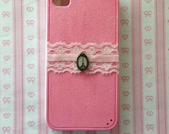 Cute Pink Paris iPhone 4 Case - Eiffel Tower Lace Case