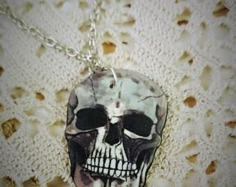 Skull shrink plastic pendant