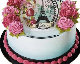 Parisian Cake Lay On / Cake Topper (1)