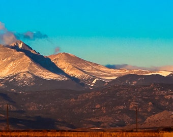 Moonset over Longs Peak, Longmont, Colorado: A Photographic Landscape Art Print