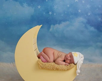 Photography Backdrop Starry Night, Newborn Photography Backdrop, Vinyl Photography Backdrop, Baby Photography Background - WHM102