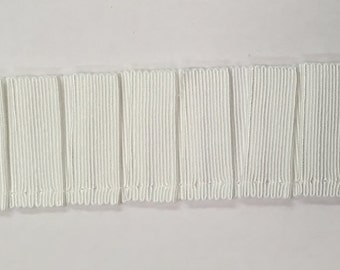 White Grosgrain Pleated Trim - Home Decor Braid - Trim By The Yard