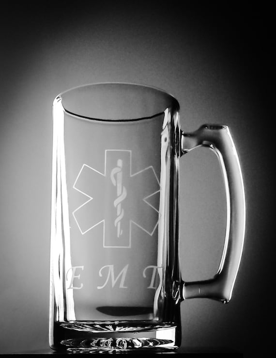 EMT Paramedic EMS Graduation Gift Glass Beer Mug