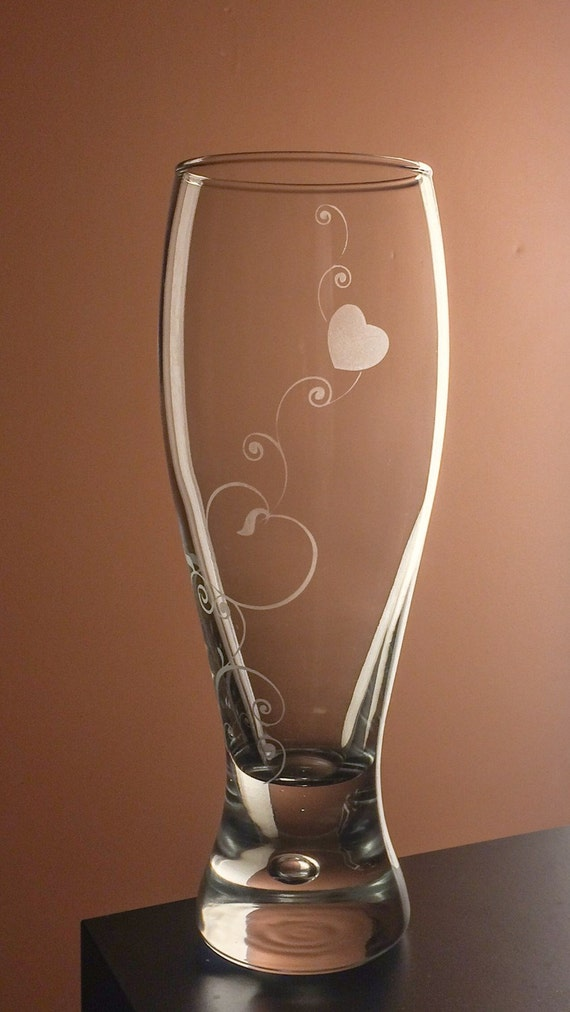 Valentines Day Gift For Her Glass Pilsner Beer Mug