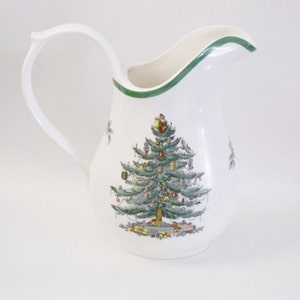 Vintage Spode China Christmas Pitcher - Made in England