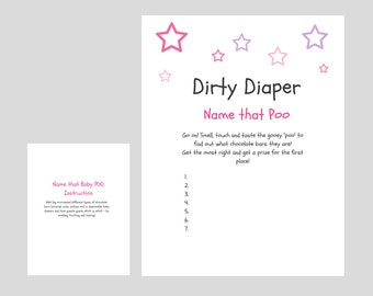 diaper game template related keywords suggestions dirty diaper