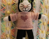 HANDKNIT CAT in SWEATER