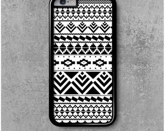 iPhone 6 / 6s Case Black White Ethnic Tribal