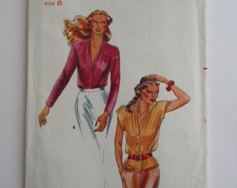 Vintage 70's Butterick Blouse Pattern / / Misses Blouse Pattern