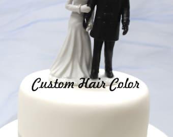 Custom Wedding Cake Topper - Winter Bride and Groom - Winter Wedding - Romantic Wedding Cake Topper - Winter Theme Wedding - Winter - Snow