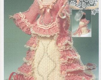 Dolls Knitting Pattern, Double Knitting Dolls Pattern, Knitting Pattern for Dolls Outfit, Dolls Dress, Vintage Dolls Dress, Knitting Pattern