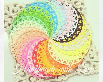 2.75 inches Butterfly Paper Doilies. 1 pack of 24 colors. Perfect for any project or decoration.