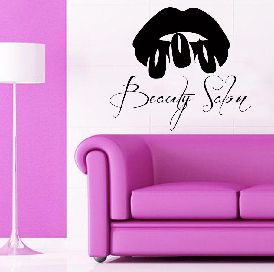 Calcoman as de pared personalizado modelo chica make up labios for Calcomanias para pared