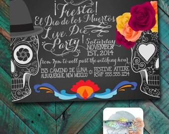 Dia de los Muertos themed Invitation