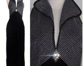 Vintage Velvet Sleeveless Maxi Dress size 6 - item #9253