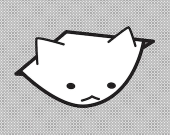 Fat Cat Sticker - Ceiling Cat - Internet Meme