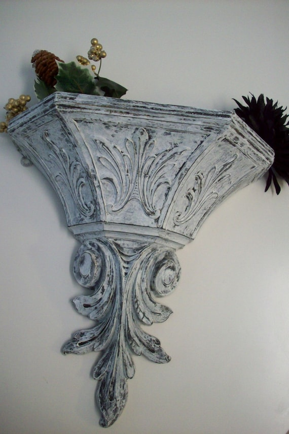 Large Vintage Wall Decor : Large wall pocket planter vintage dart ind decor hand