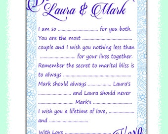 Wedding mad lib on etsy a global handmade and vintage for Guest libs wedding edition template