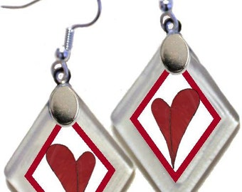 Earrings Donation GO RED For WOMEN(tm)! rescued window glass