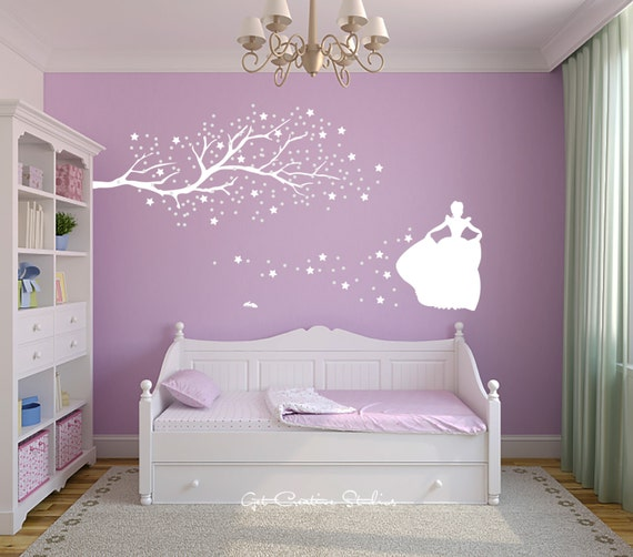 Cinderella Decal Princess Decal Fairy Tale Decor Glass Slipper