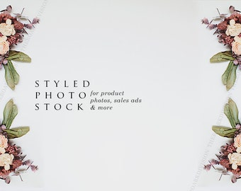 Pink Floral Styled Stock Photography, Product Mockup, Styled Background, Product Photography, Digital Background, Desktop Background