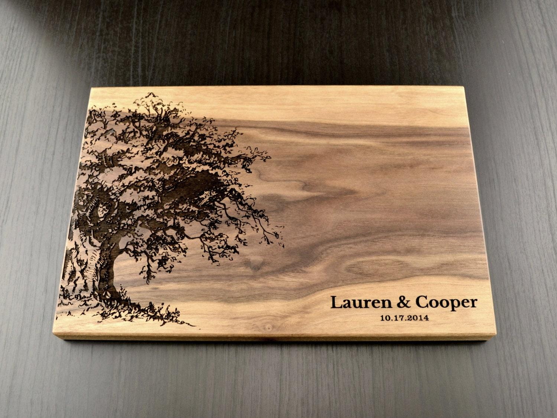 Wedding Gift Cutting Board: Personalized Cutting Board Custom Wedding Gift Housewarming