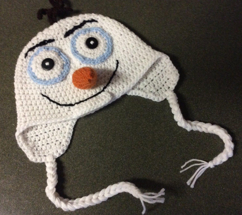 Crochet Olaf Inspired Earflap Hat Crochet Frozen Hat