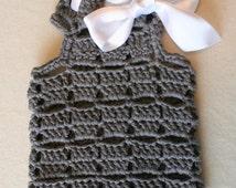 Dog Sweater - BubaDog design - Pets clothing - White Bow Sweater - Dogs vest - Crochet dog clothes