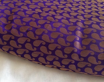 Clearance 2 yards Brocade Fabric Was 28 Now 18 ,Indian Silk Fabric, Indian Fabric, Wedding Fabric, silk Brocade Fabric, Dress Fabric