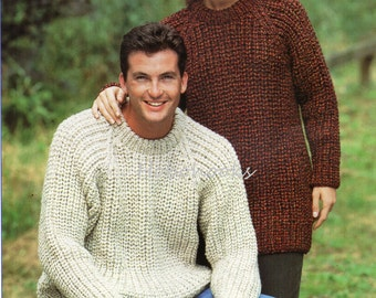 Knitting Patterns Fisherman s Rib Sweater : Popular items for rib sweater on Etsy