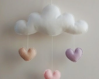 Love Cloud Mobile 'SONHO' - Ready to Ship! | Nursery Decor | Baby | Kids | It's Raining Love!