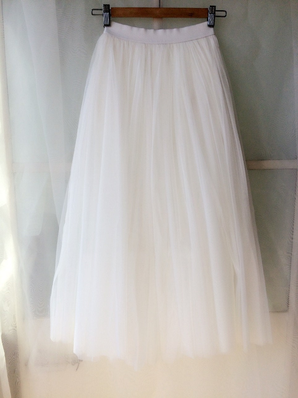 3 Color Women White Tutu Skirt White Maxi Skirt Wedding Skirt ...